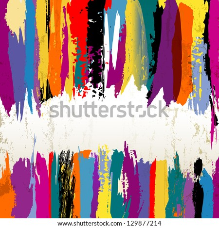 abstract background, paint strokes - stock vector
