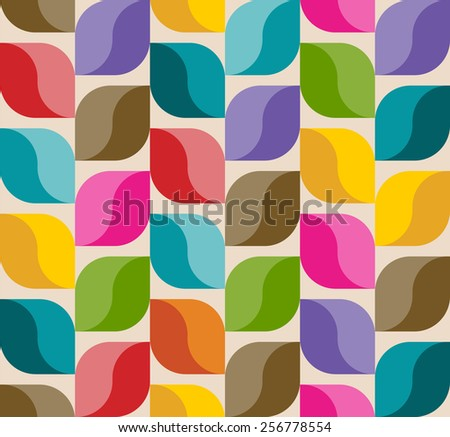 Abstract background pattern, colorful leaves, vector illustration - stock vector