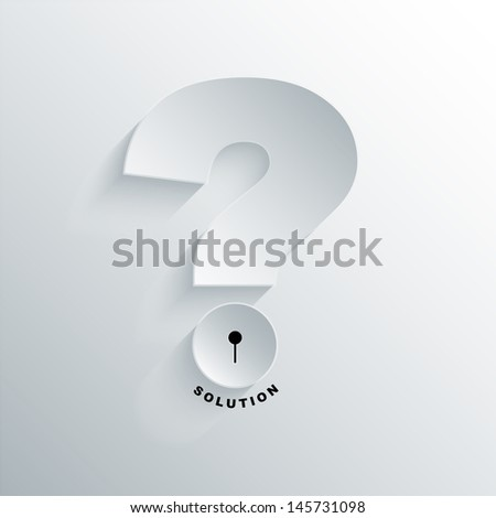 abstract background question and solution concept with key - stock vector