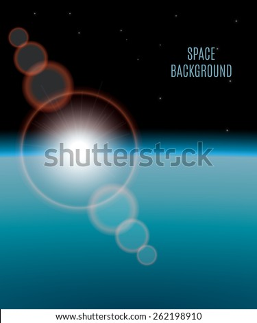 abstract background realistic sunrise in space,eps10 - stock vector
