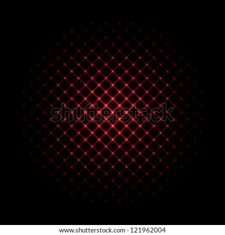 Abstract Background - Red Glowing Sphere - stock vector