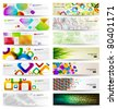 Abstract Background Set - stock photo