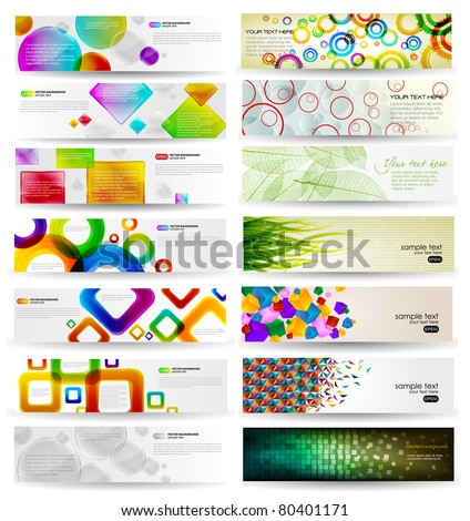 Abstract Background Set - stock vector