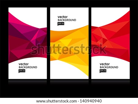 Abstract background set EPS10 - stock vector