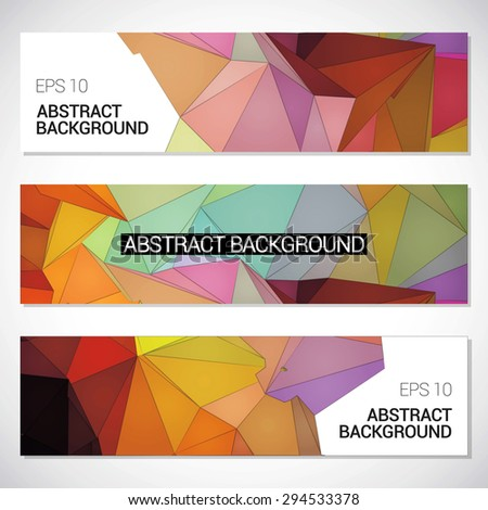 Abstract background set, low poly style. - stock vector