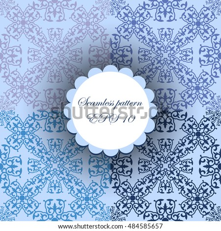 Abstract background. set of sky blue seamless pattern.