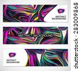 Abstract background set, wavy style.