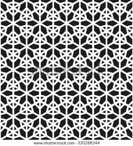 Abstract background. Snowflake seamless Pattern. Abstract Black and White Background. Vector regular Texture.
