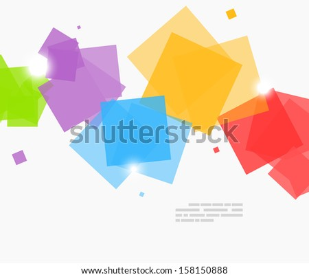 Abstract background squares - stock vector