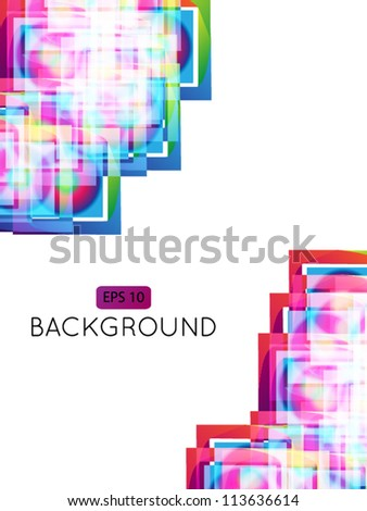 Abstract Background Squares 2 EPS 10 Transparency