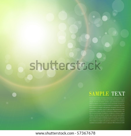 Abstract background sun flare and bokeh. Vector illustration. - stock vector