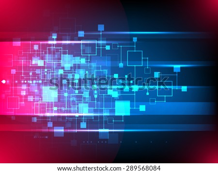 Abstract background, technology theme of social media. Vector - stock vector