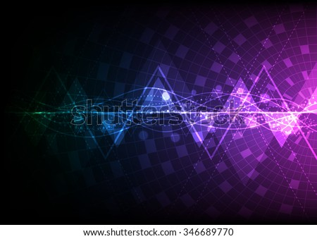 abstract background telecoms technology wave, vector illustration - stock vector