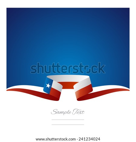 Abstract background Texas flag ribbon - stock vector