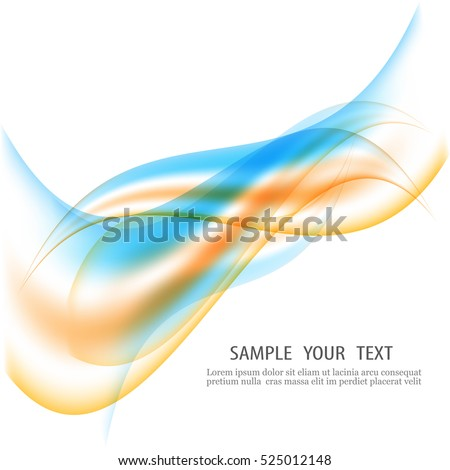 Abstract background.The wavy lines.Design element.Colored streams of traffic abstraction