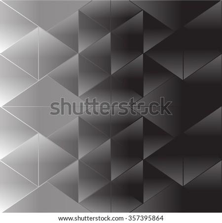 Abstract background triangle black - stock vector