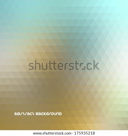 Abstract background. Triangle geometry. Vector design - stock vector
