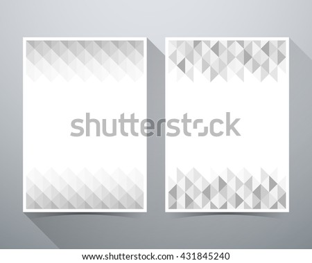 Abstract Background, triangle gray pattern, magazine poster brochure layout vector illustration template A4 size. - stock vector