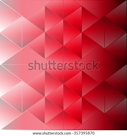 Abstract background triangle red - stock vector