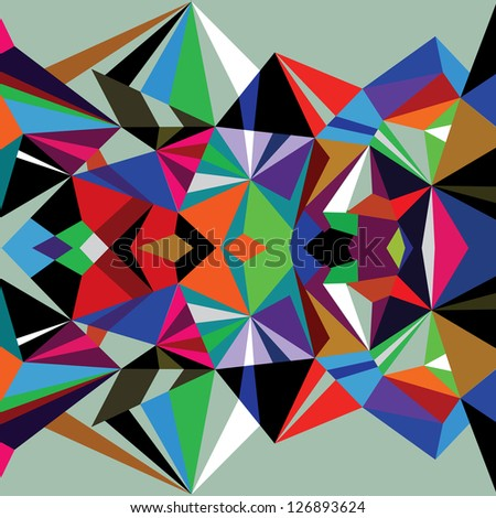 Abstract background triangles vactor 0048 - stock vector