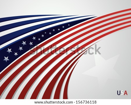 Abstract background USA patriotic design with a stylized eagle's head - stock vector