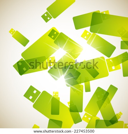 abstract background: usb - stock vector