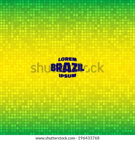 Abstract  Background using Brazil flag colors, vector illustration  - stock vector