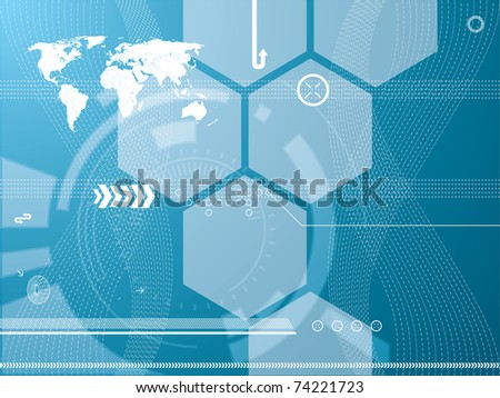 abstract background vector graphics created with technology - stock vector
