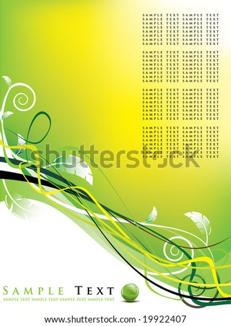 abstract background / vector illustration / floral design