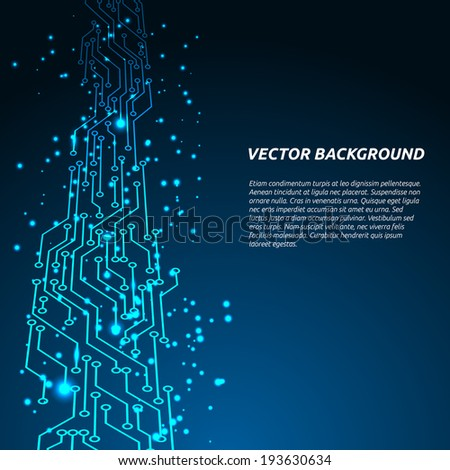 Abstract background. Vector illustration of digital technologies.