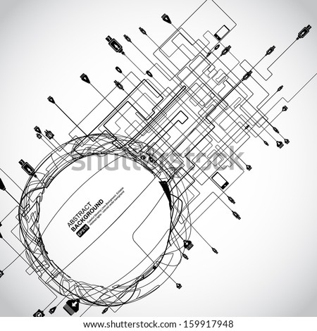 Abstract Background Vector-Interactive multimedia - stock vector