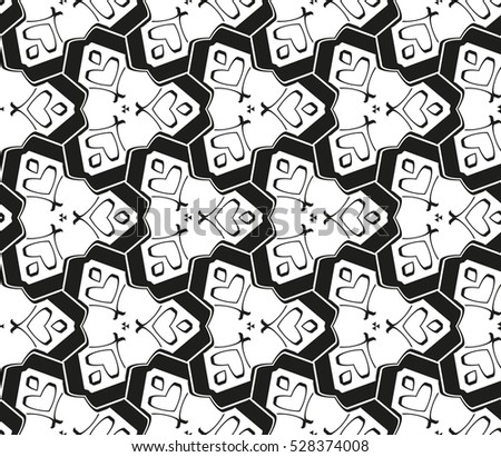 Abstract background. Vector seamless pattern. Black and white geometric seamless pattern in modern stylish