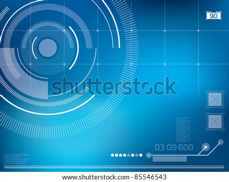 abstract background vector with elements in technology - stock vector