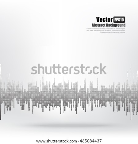 Abstract background wave and bar element vector illustration