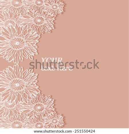 Abstract background, wedding invitation or greeting card design with floral pattern, beautiful luxury postcard, ornate page cover, ornamental vector illustration - stock vector