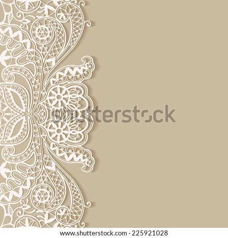 Abstract background, wedding invitation or greeting card design with lace pattern, beautiful luxury postcard, ornate page cover, ornamental vector illustration - stock vector