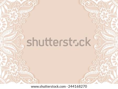 Abstract background wedding invitation greeting card stock vector abstract background wedding invitation or greeting card design with lace pattern beautiful luxury postcard stopboris Image collections