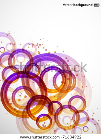 Abstract background wit color circles - stock vector