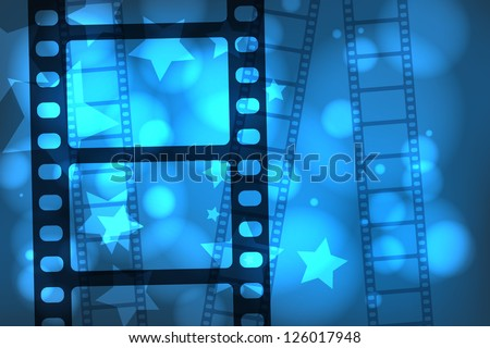 Abstract background with a celluloid movie film. EPS10 vector. - stock vector