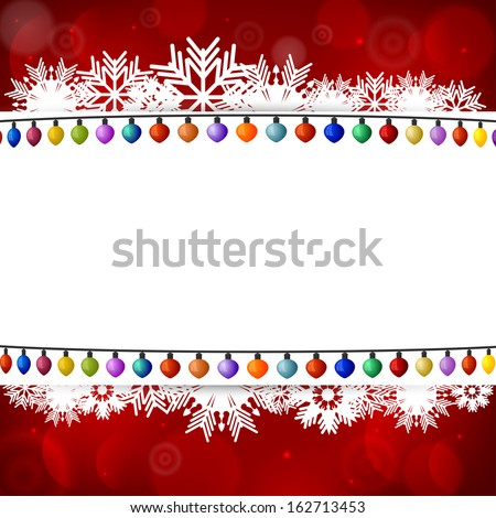 Abstract background with a Christmas lights