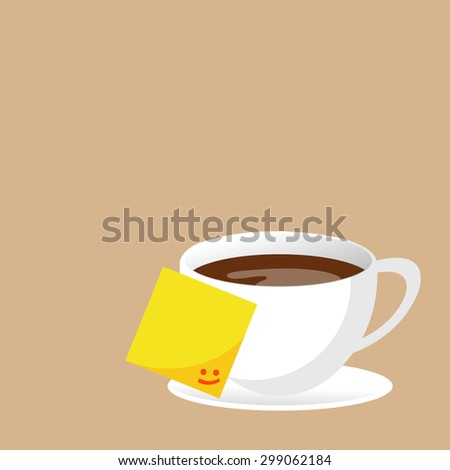 Abstract background with a cup of coffee. for menu, restaurant, cafe, bar, coffeehouse. notes - stock vector
