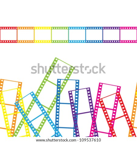 Abstract background with a film strip. Vector illustration. - stock vector