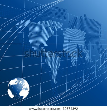 Abstract background with a globe - stock vector