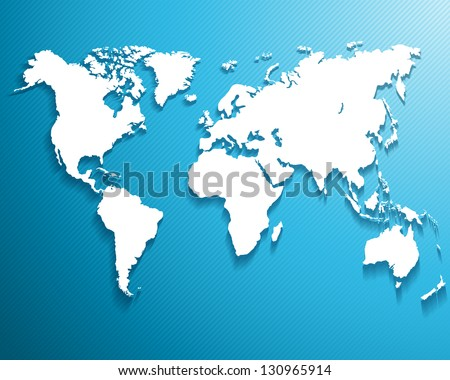 Abstract background with a map of the world. ...Vector illustration - stock vector