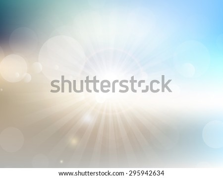 Abstract background with a summer theme - stock vector