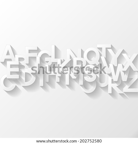 Abstract background with alphabet. Vector illustration.  - stock vector