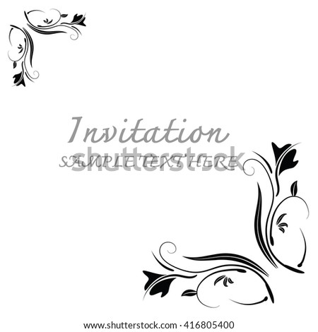 Abstract background with antique.Invitation cards.