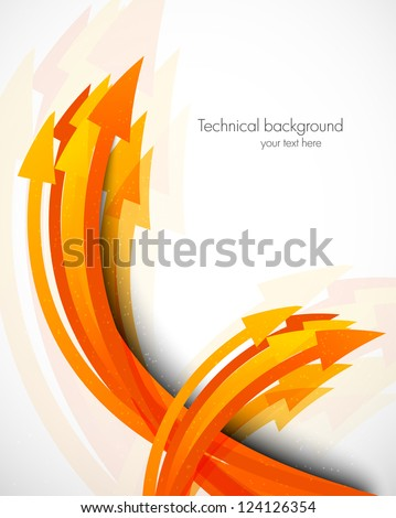 Abstract background with arrows - stock vector