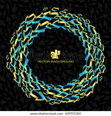 Abstract background with arrows. Vector illustration. - stock vector