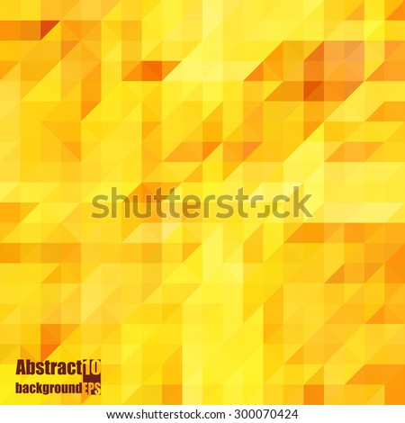 Abstract  background with autumn mosaic. Eps10 Vector illustration - stock vector